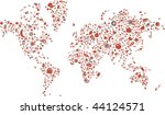 a world map made of food items | Shutterstock .eps vector #44124571