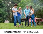 friends making a barbecue... | Shutterstock . vector #441259966