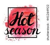 summer calligraphic design... | Shutterstock .eps vector #441264922