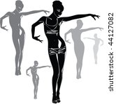 vector black silhouettes of... | Shutterstock .eps vector #44127082