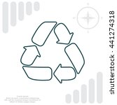 recycle sign isolated  line... | Shutterstock .eps vector #441274318