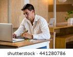 man working on his graphics... | Shutterstock . vector #441280786