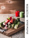 grilled vegetable skewers...
