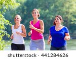 group of women running at... | Shutterstock . vector #441284626