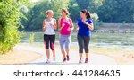 group of women running at...   Shutterstock . vector #441284635