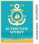 banner with an anchor and helm  ... | Shutterstock .eps vector #441290092