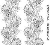 vector seamless monochrome... | Shutterstock .eps vector #441290326