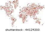 a world map made of technology... | Shutterstock .eps vector #44129203