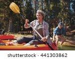 portrait of happy senior... | Shutterstock . vector #441303862
