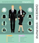 business dress code... | Shutterstock .eps vector #441304042