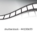 vector film strip twisted | Shutterstock .eps vector #44130655