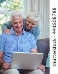 smiling senior couple using...   Shutterstock . vector #441308788