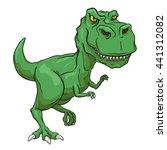 green tyrannosaurus rex  t rex  ... | Shutterstock .eps vector #441312082