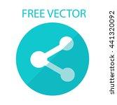 free vector style flat molecule | Shutterstock .eps vector #441320092