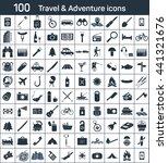 travel  adventure 100 icons set | Shutterstock .eps vector #441321676