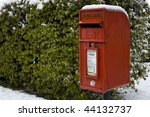 Red Post Box In The Snow
