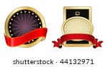 vector golden label frame with... | Shutterstock .eps vector #44132971