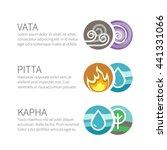 ayurveda vector elements and... | Shutterstock .eps vector #441331066