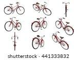 set classic bikes vinous chrome ...   Shutterstock . vector #441333832