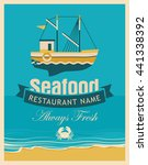 retro banner for a restaurant... | Shutterstock .eps vector #441338392