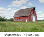 Old Red Barn Surrounded By...