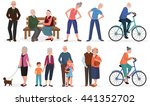 old people in different... | Shutterstock .eps vector #441352702