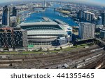 skyline view of melbourne and... | Shutterstock . vector #441355465