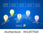 abstract 3d infographic 5... | Shutterstock .eps vector #441357565