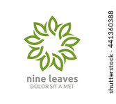 vector leaf nine with natural... | Shutterstock .eps vector #441360388