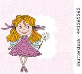 cute cartoon fairy. vector... | Shutterstock .eps vector #441365362