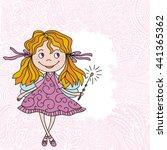 cute cartoon fairy. vector... | Shutterstock .eps vector #441365362