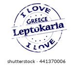 rubber stamp with text i love... | Shutterstock .eps vector #441370006