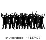 dancing people silhouettes  ... | Shutterstock .eps vector #44137477