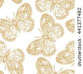 vector butterflies pattern.... | Shutterstock .eps vector #441377482