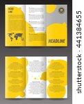 corporate trifold brochure...   Shutterstock .eps vector #441384655