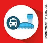 airport terminal design  | Shutterstock .eps vector #441387256