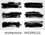 vector brush strokes.hand drawn ... | Shutterstock .eps vector #441396112