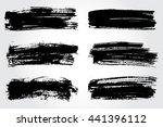 vector brush strokes.hand drawn ... | Shutterstock .eps vector #441396112