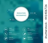 vector infographics with... | Shutterstock .eps vector #441406726