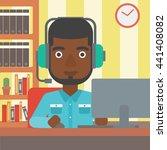an african american man in... | Shutterstock .eps vector #441408082