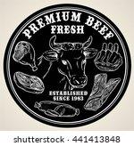 premium beef or fresh meat... | Shutterstock .eps vector #441413848