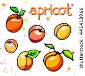 collection of cartoon juicy... | Shutterstock .eps vector #441418966