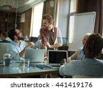 young creative team having...   Shutterstock . vector #441419176
