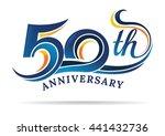 anniversary emblems 50 in... | Shutterstock .eps vector #441432736
