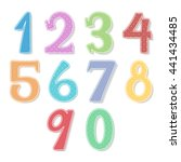 colorful numbers | Shutterstock .eps vector #441434485