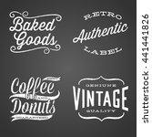 vintage chalk labels   set of... | Shutterstock .eps vector #441441826