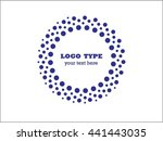 abstract halftone logo design...   Shutterstock .eps vector #441443035