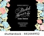 bridal shower invitation. | Shutterstock .eps vector #441444952