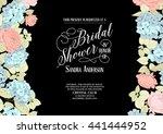 bridal shower invitation.   Shutterstock .eps vector #441444952