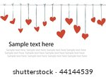 valentine day flyer background | Shutterstock .eps vector #44144539